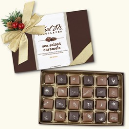Milk and Dark Sea-Salted Caramels, 24-Piece Collection