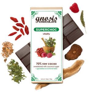 Gnosis Organic Dark Chocolate:  SuperChoc Bar