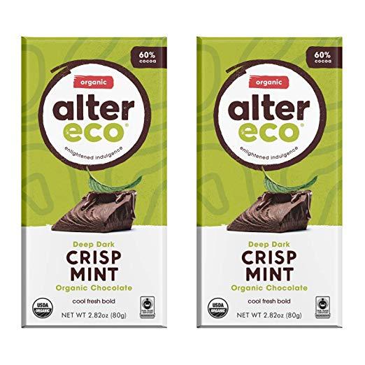 Alter Eco - Dark Mint Crisp - 60% Pure Dark Cocoa, 2 Bars
