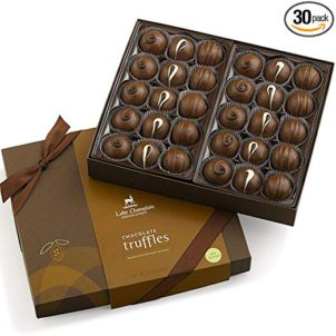 Lake Champlain Assorted Gourmet Milk Chocolate Truffles Gift Box, 30 pieces, 1.5 Pounds