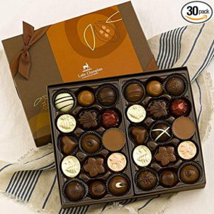 Lake Champlain Gourmet Chocolate Assortment Gift Box, 30 Pieces, 1.1 Pounds