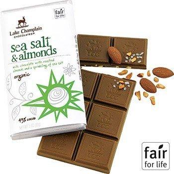 Lake Champlain Organic Milk Sea Salt and Almonds Chocolate Bar 3oz