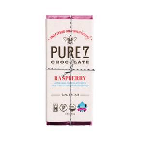 Pure7 Raspberry Chocolate Bar - 72% Cacao