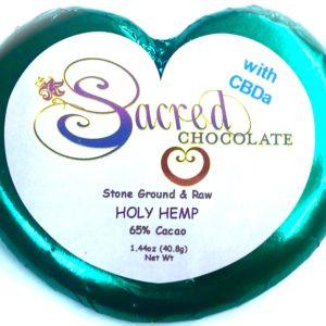Sacred Chocolate:  Holy Hemp 5mg – 1.44oz Heart Bar