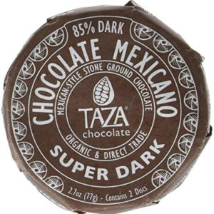 Taza Organic Chocolate Mexicano Super Dark Disc 85% Dark, 2.7 oz – FREE SHIPPING w/Prime