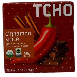 Tcho Cinnamon Spice Fair Trade Chocolate Bar (Dark Milk Chocolate with Cinnamon & Sugar) – 2.5 Ounces