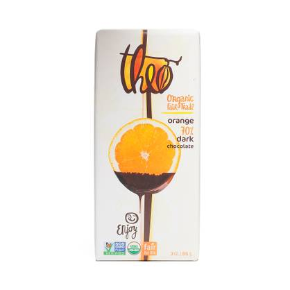 Theo Orange Organic Dark Chocolate- 70% Cocoa
