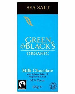 Green & Black's Organic Fairtrade Milk Chocolate Sea Salt – 3.53 oz. (100g) – FREE SHIPPING