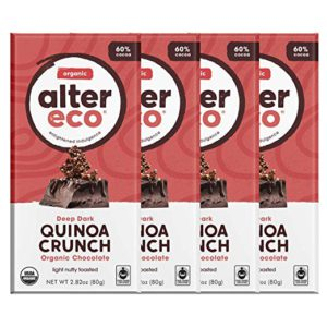 Alter Eco | Dark Quinoa Crunch | 60% Pure Dark Cocoa – FREE SHIPPING