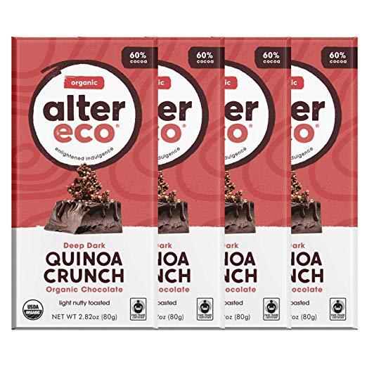 Alter Eco | Dark Quinoa Crunch | 60% Pure Dark Cocoa