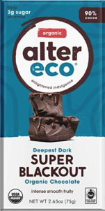 Alter Eco - Super Blackout Bar - 90% Pure Dark Cocoa