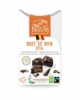 Belvas Belgian Brut de Noir Dark Chocolate Praline w/Coco Sugar 3.5 oz (1 Box) – FREE SHIPPING
