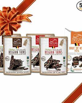 Belvas Belgian Dark Chocolate – Assorted Vegan Set – Organic Thins and Truffles – FREE SHIPPING