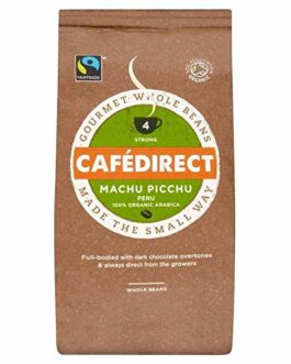 Cafédirect Fairtrade Machu Picchu Organic Coffee Beans – 8 oz. (227g) – FREE SHIPPING