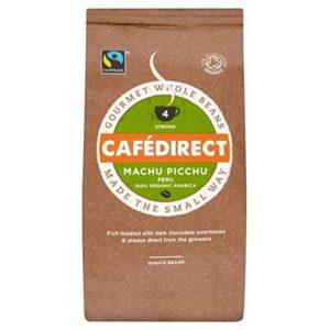 Cafédirect Fairtrade Machu Picchu Organic Coffee Beans – 8 oz. (227g) – FREE SHIPPING
