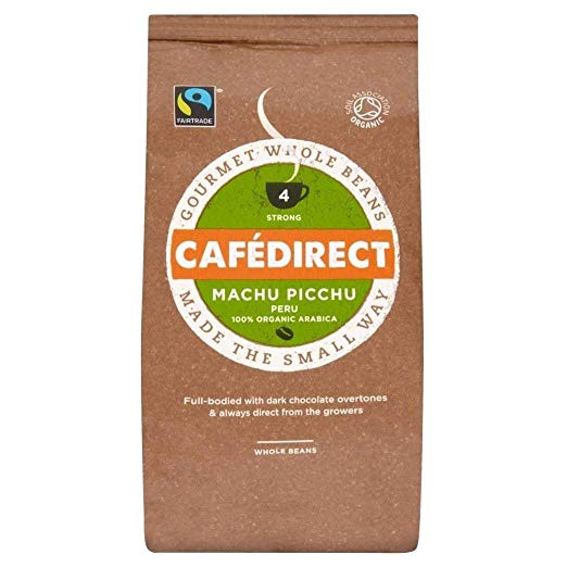 Cafédirect Fairtrade Machu Picchu Organic Coffee Beans (227g)