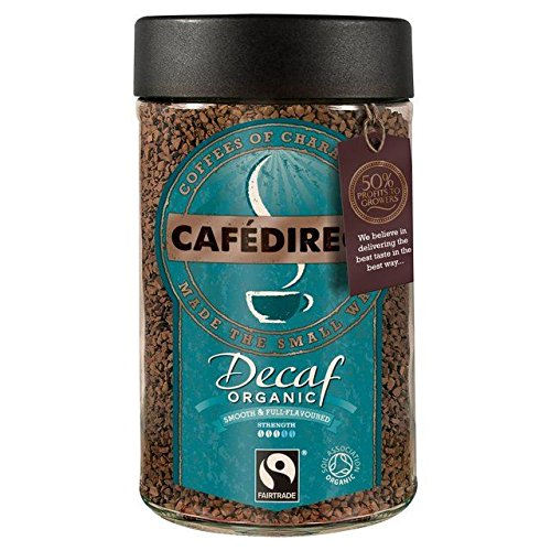 Cafedirect Fairtrade Organic Decaffeinated Instant Coffee - 100g