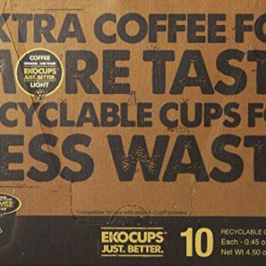EKOCUPS Artisan Organic Light Gourmet Coffee, medium roast, in Recyclable Single Serve Cups for Keurig K-cup Brewers, 40 count – FREE SHIPPING w/Prime