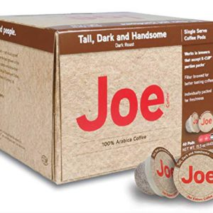 Joe Knows Coffee, Tall Dark and Handsome, Single Serve Coffee Pods – FREE SHIPPING w/Prime