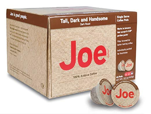 Joe Knows Coffee, Tall Dark and Handsome, Single Serve Coffee Pods