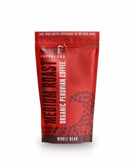 Laird Superfood Organic Whole Bean Coffee – Medium Roast – 12 oz Bag – FREE SHIPPING w/Prime