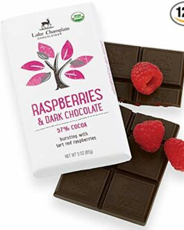 Lake Champlain Chocolates 12 Pack Bar, Raspberries and Dark Chocolate, 3 Ounce – FREE SHIPPING w/Prime