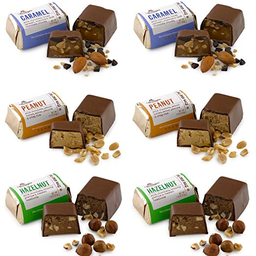 Lake Champlain Chocolates Five Star Bar Milk Chocolate Variety Pack All-Natural Certified Kosher - 6 Pack