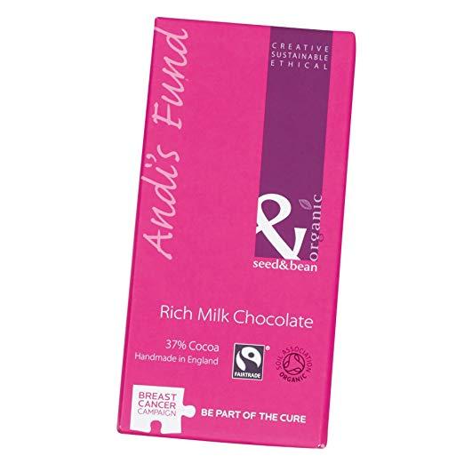 Seed and Bean - Organic Fairtrade Rich Milk Chocolate Bar - 85g