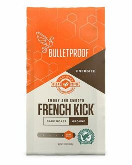 Bulletproof French Kick Ground Coffee, Premium Dark Roast Gourmet Organic Beans – Decaffeinated – FREE SHIPPING w/Prime