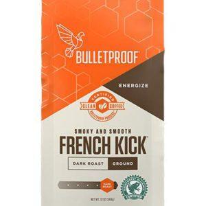 Bulletproof French Kick Ground Coffee, Premium Dark Roast Gourmet Organic Beans – Decaffeinated – FREE SHIPPING w/Prime