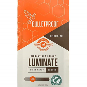 Bulletproof Luminate Light Roast Coffee – Premium Gourmet Light Roast Organic Beans, Rainforest Alliance, Certified Clean Coffee, Ground – FREE SHIPPING w/Prime