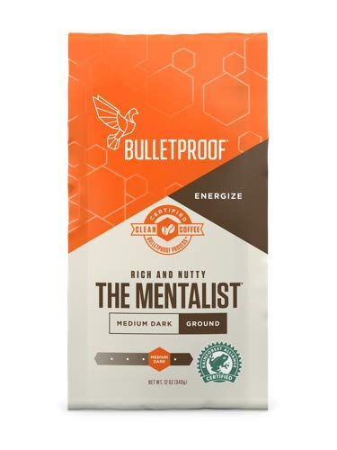 Bulletproof The Mentalist Ground Coffee - Premium Gourmet Medium Dark Roast Organic Beans