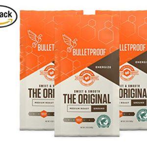 Bulletproof The Original Ground Coffee, Premium Medium Roast Organic Beans, 3-Pack – FREE SHIPPING w/Prime