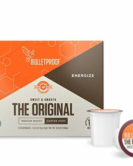 Bulletproof The Original Roast Coffee Pods, Premium Medium,Single-Serve K Cups, Works With Keurig 2.0 – FREE SHIPPING w/Prime