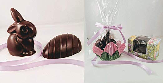 Creek House Dark Chocolate Baby Easter Bunny and Half Egg Set