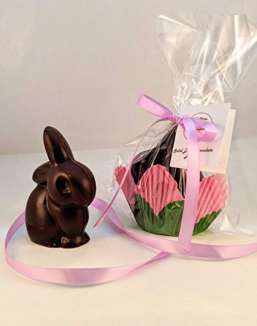 Creek House Solid Dark Chocolate Baby Easter Bunny, Organic & Vegan