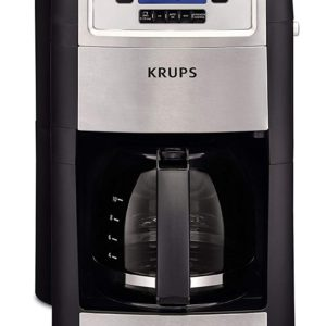 KRUPS Grind and Brew Auto-start Coffee Maker with Builtin Burr Coffee Grinder, 10 Cups, Black – FREE SHIPPING w/Prime