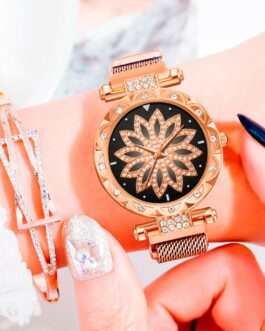 Classic Fashion Flower Rhinestone Ladies' Watch – FREE SHIPPING