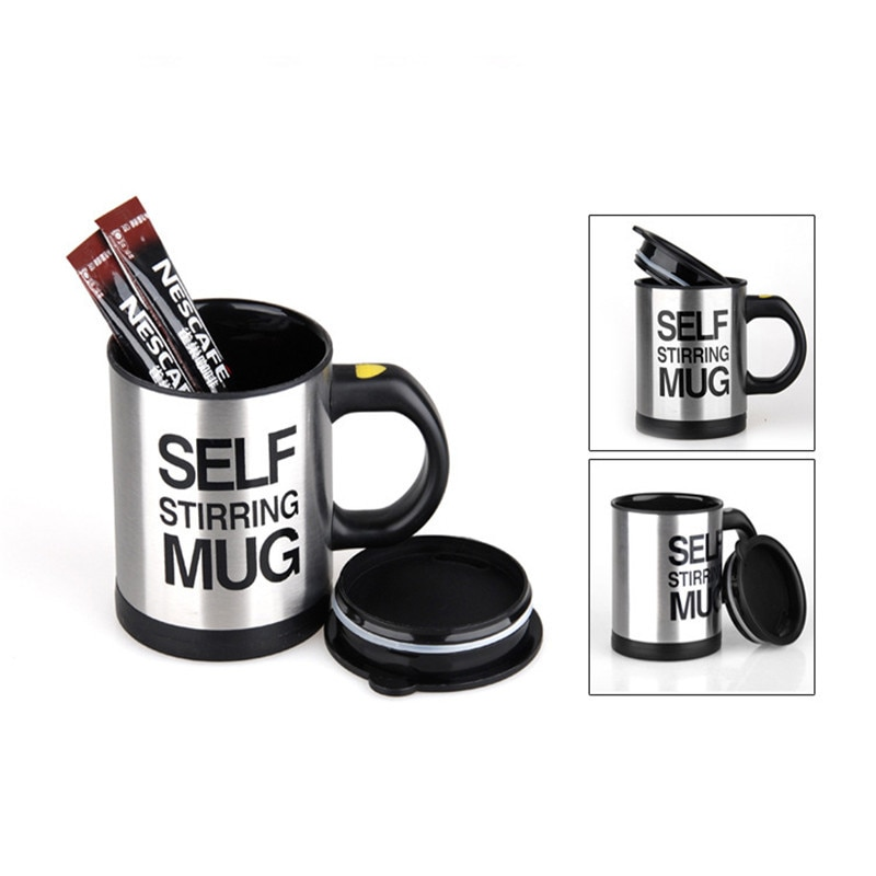 Blk Self-stirring Mug