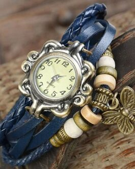 FREE Ladies Retro Butterfly Leather Bracelet Wrist Watch – Just Pay S&H
