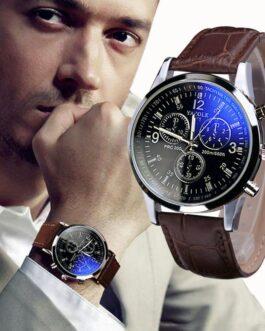 Fashion Faux Leather Men's Analog Quartz Watch – FREE SHIPPING