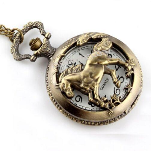 Antique Horse Pocket Watch
