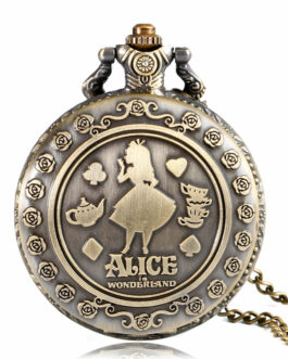 Retro Alice Theme Bronze Quartz Pocket Watch – FREE SHIPPING