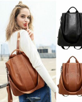 Female Anti-theft PU-Leather Backpack – FREE SHIPPING